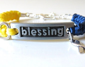 Down Syndrome BLESSING Love Charm Bracelet Awareness Optional Hand Stamped Letter Charm
