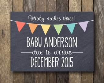 free pregnancy announcement template
