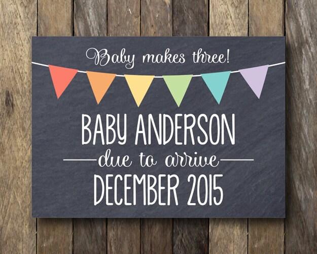 Pregnancy Announcement Card: Printable Pregnancy Announcement Card We're Expecting