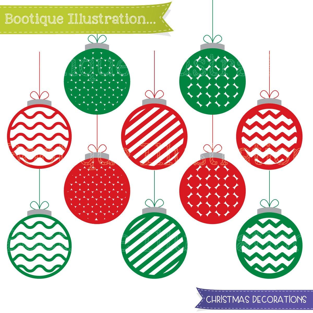 Christmas decorations images clipart - Christmas Decorations Clipart Set Christmas Baubles Clip Art Christmas Decorations Clip Art Traditional Christmas Clipart Xmas Clipart