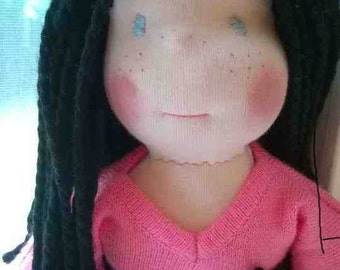 Custom Waldorf Doll, Washable, 12 inches, Vegan friendly options
