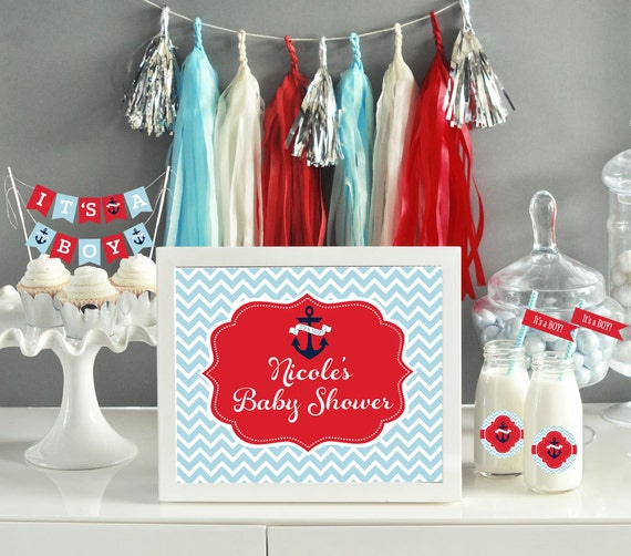 baby shower decorations nautical theme baby shower ideas for boy baby