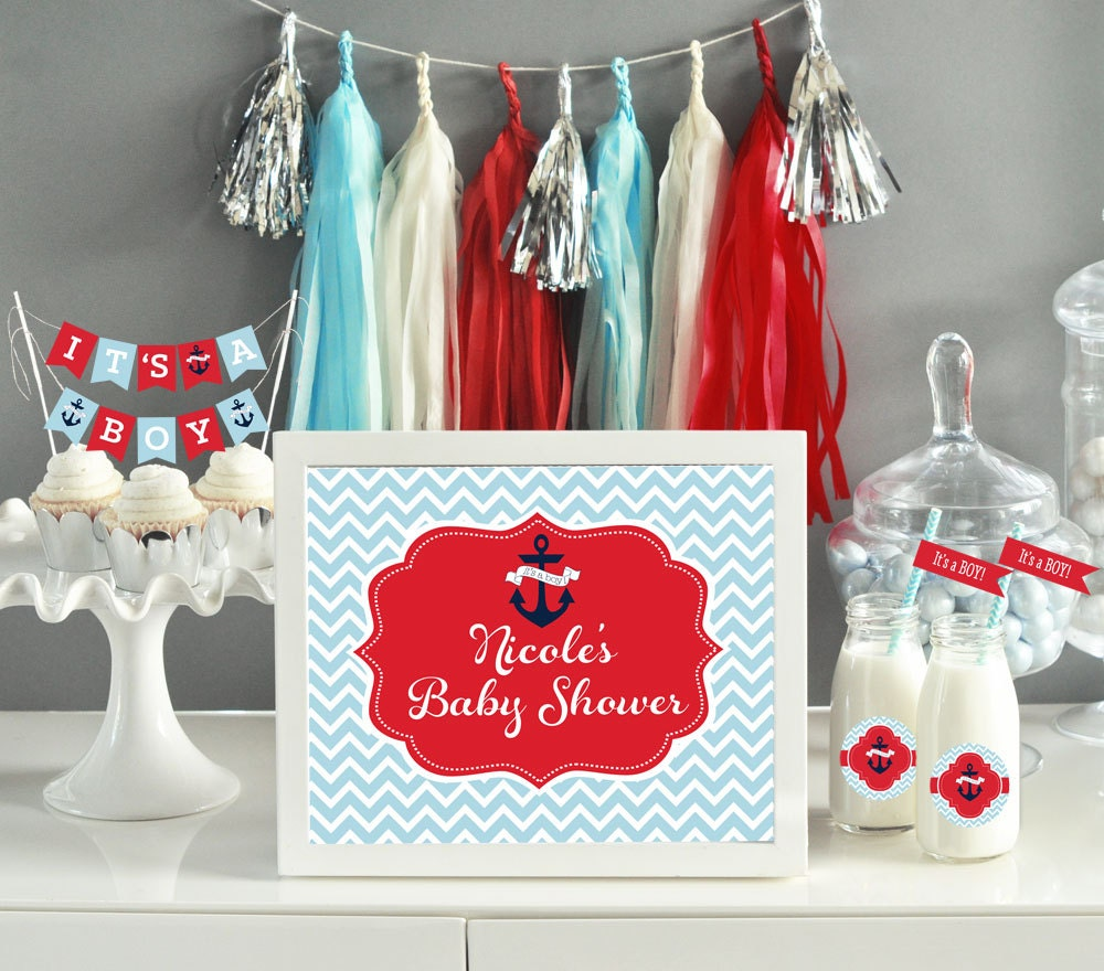 coed baby shower decorations nautical theme baby by modparty