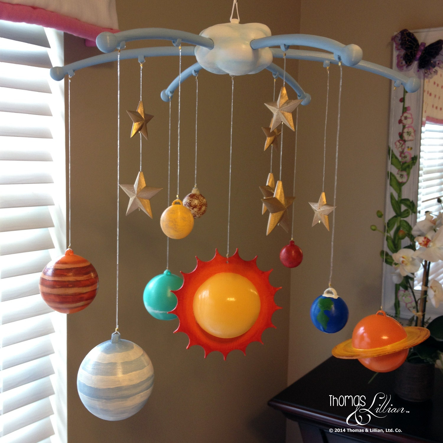 handmade solar system mobile - photo #1