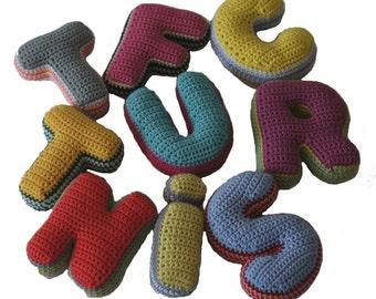 Crochet plush letters