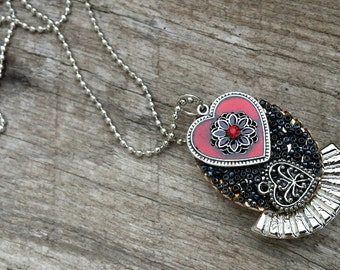 Necklace - Convertible Heart Pin