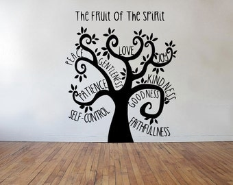 Fruit Of The Spirit Tree Galatians 5 Vinyl Wall Decal