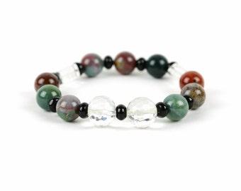 Bloodstone Bracelet, Root Chakra Bracelet, Gemstone Bracelet, Handmade Jewelry, Gemstone Bracelet, Gemstone Jewelry, unique-gift-for-wife