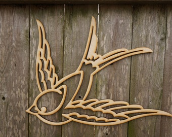 Love Bird wood cut wall hanging/gift/cutout/laser/door/decor/unfinished/wood/laser/sign