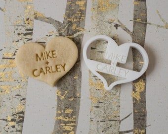 Custom Wedding Heart Cookie Cutter