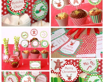 Christmas Birthday Party - Christmas Party - Christmas Decorations - Christmas Printables - Christmas Downloads (Instant Download)