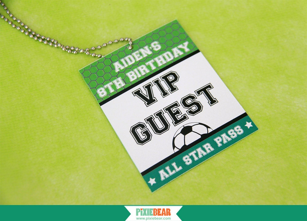 Vip Pass Soccer Party VIP Pass ...