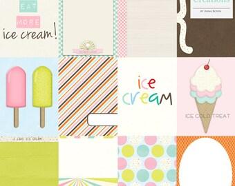 Ice Cream Lover - digital 3x4 pocket cards