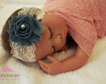 Pick 6 Baby headbands, Baby lace headband, baptism headband, infant headbands, white lace headband, newborn photo prop newborn headband HL01