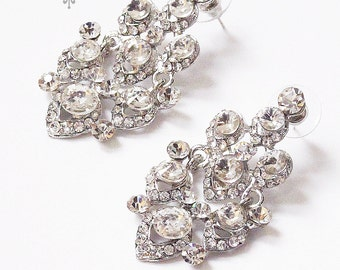 Wedding Jewelry Wedding Earrings Bridal Earrings Rhinestone earrings Dangle Earrings - ACIA