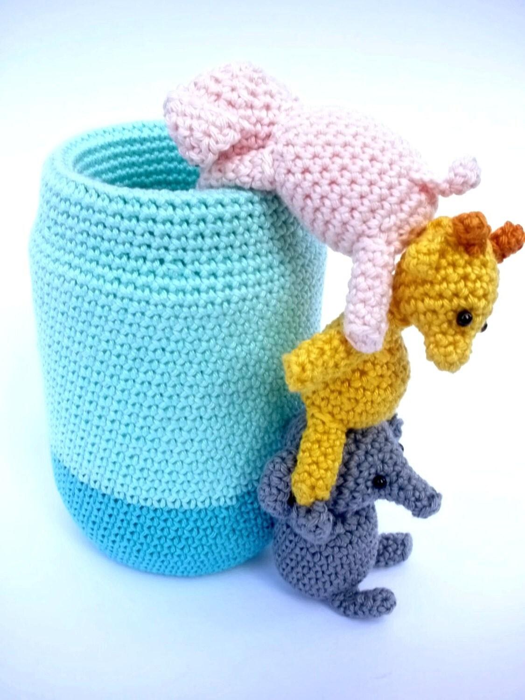 Amigurumi Bunny Pencil Holder : Crochet pen holder cute desk accessories by crochetonatree
