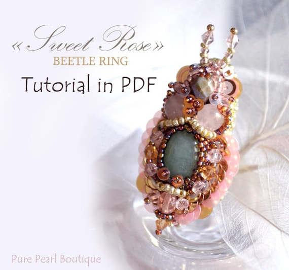 Tutorial in pdf bead embroidery ring