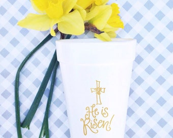 He Is Risen! - Easter Cups (Qty 12)