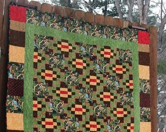Bird quilt, woodland quilt