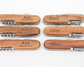 Ring Bearer Gift, 2 Engraved Pocket Knifes, Personalized Groomsmen Gift, Personalized Wedding Favor, Knife