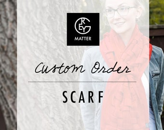 Scarf, Cowl, Shawl, Chunky Herringbone Oversized Weave, Fleece, Infinity Scarf, Handwoven, Handmade CUSTOM REGULAR by Grey Matter
