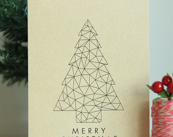 Instant Download | Printable Christmas Card | A Geometric Christmas | Geometric Christmas Tree