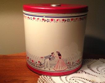 Vintage large metal canister