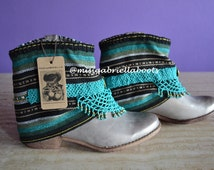 COWBOY BOOTS, ANKLE Boots, Women Boots, Morocan Boots, Apache Boots, Ethnic, Bohemian Boots, Ankle Boots, Handmade Boots, Aztec Boots