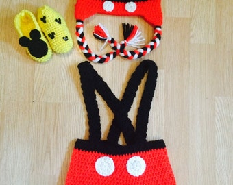 Crochet Mickey Mouse Outfit