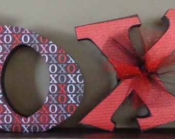 Valentines Decor, Chunky Letters,Valentines Craft, XOXO