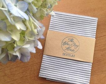 Grey & White Pocket Square