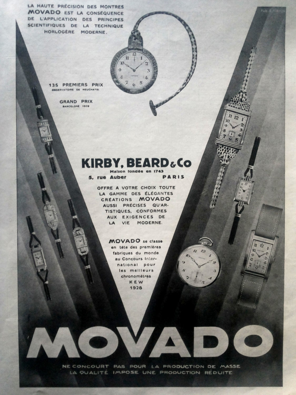 Movado advertising vintage poster Movado watches retro poster