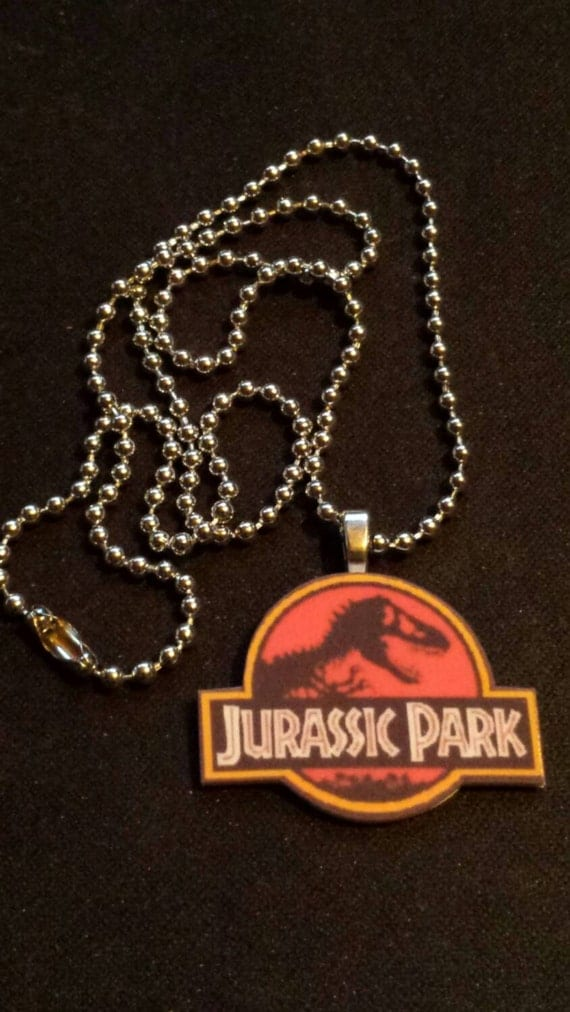 jurassic park necklace 90s classic by mymaebybaeby on