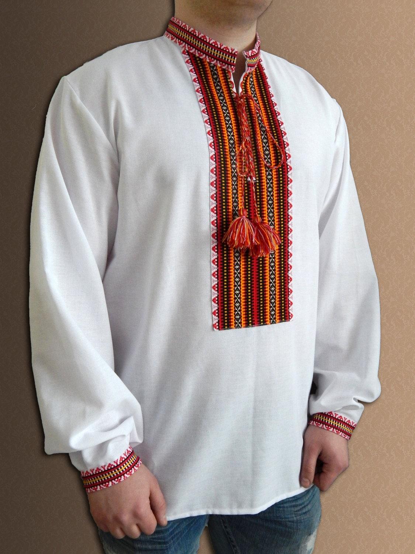 Ukrainian shirt embroidered for men cotton or linen