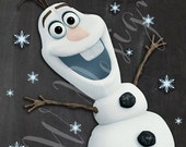 "SALE! Frozen Party Game ""Pin the Nose On Olaf""  - Print"