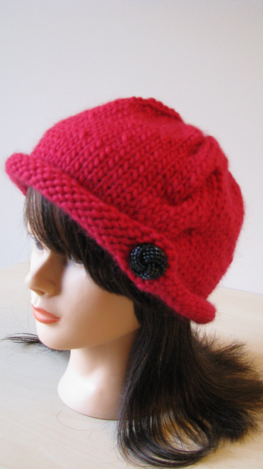 Knitting Patterns Ladies Winter Hats : Knitting Pattern Womens winter hat Rachel