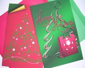 Christmas cards - Christmas - card - Swirl Tree - Under the Tree - Xmas