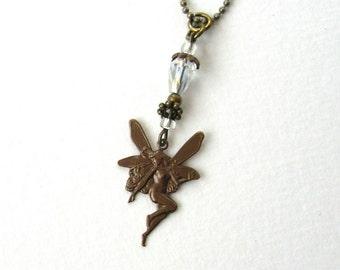 SALE!  Woodland Fairy Necklace, Czech Glass