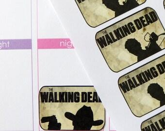 """18 """"The Walking Dead"""" Half Box Stickers for Erin Condren Planner, Filofax, Plum Paper"""