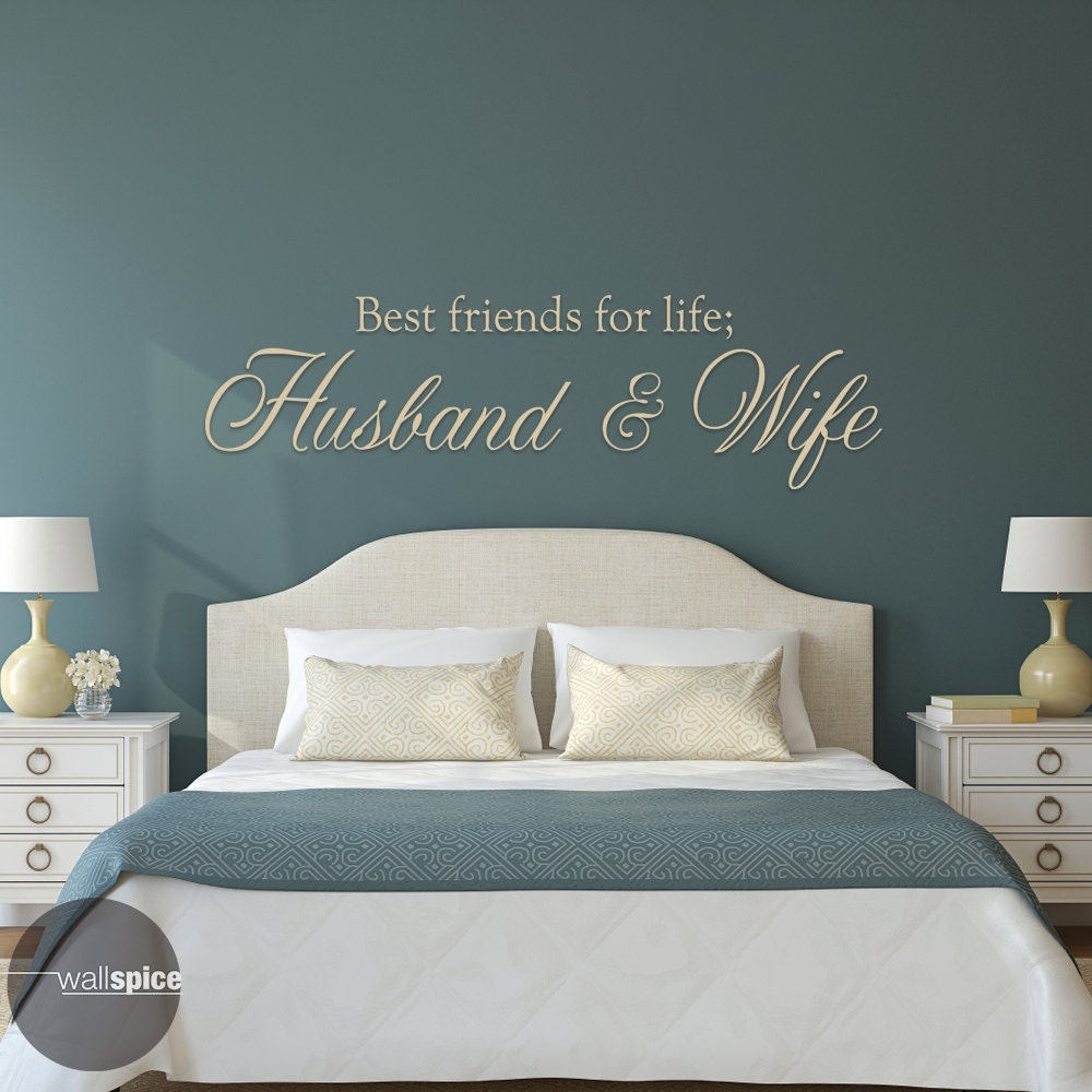 Best Husband And Wife: Best Friends For Life Husband And Wife Vinyl Wall Decal