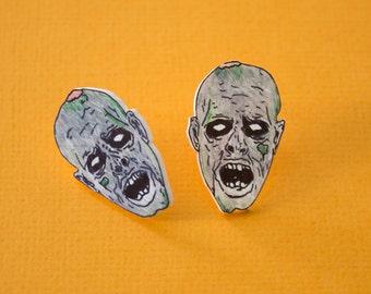Zombie Head Earrings!