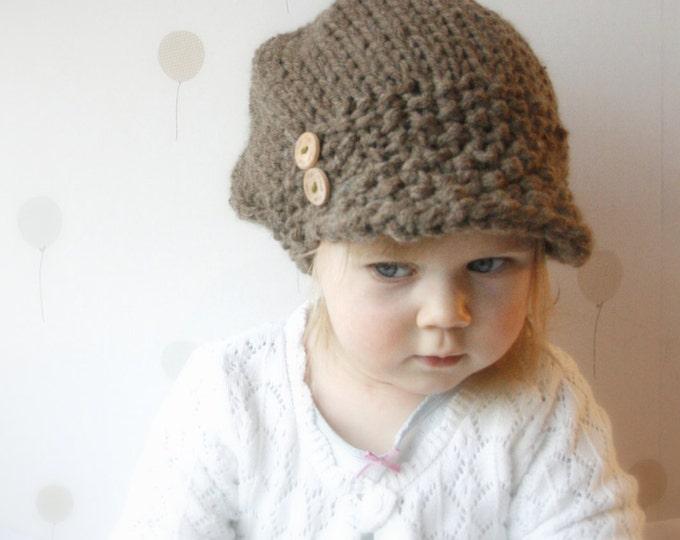 KNITTING PATTERN newsboy cap hat Morgan (toddler, child, woman, man sizes)