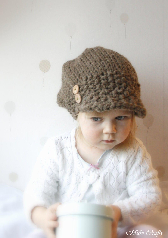KNITTING PATTERN newsboy cap hat Morgan toddler child