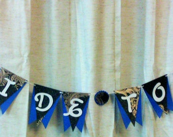 Blue BRIDE TO BE, Bridal Shower Banner, Bachelorette Party Banner, Blue Bridal Shower Decorations, Royal Blue Bachelorette Decorations