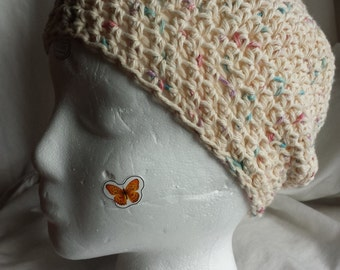 Cream Speckled Slouch Hat