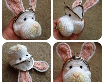 Rabbit Coin Purse Crochet Pattern