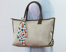 faux LEATHER TOTE BAG, medium oyster white purse, laptop bag, work tote, monogram bags, womens bag, everyday bag, market bag, mommy tote,