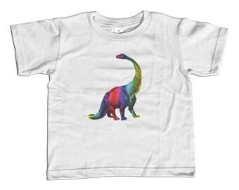 Pop Art Kids Dinosaur Shirt - Rainbow Dinosaur TShirt - Girl Dinosaur Shirt - Paleontology Kids Shirt - Youth and Toddler - 2T-Youth Large