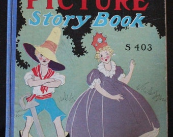 "1931 First Edition Hardcover ""Big Picture Story Book"" S403 by M.A. Donohue & Co"
