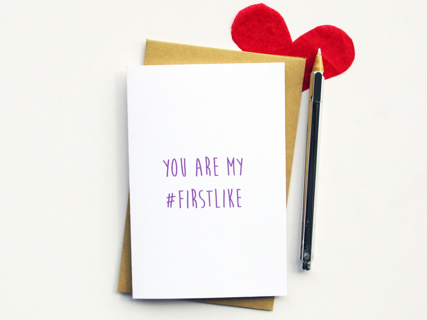 Funny anniversary card hashtag i love you by